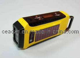 Solar Dynamo Radio/Solar Hand Crank Radio with LED