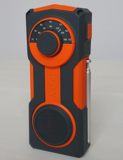 Hand crank AM/FM/NOAA weather band radio with torch